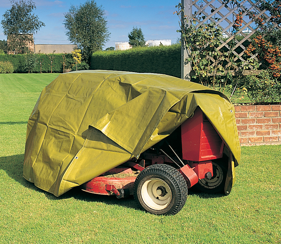 Tarp Over Lawnmower